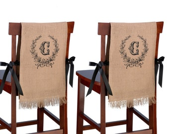 LR Burlap Chair Cover