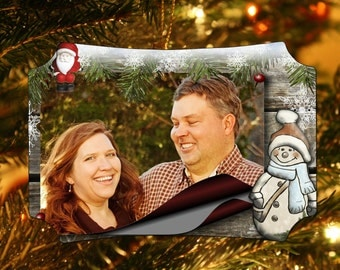 Family Christmas Ornament. Custom Photo Ornament. Personalized Photo Ornament.