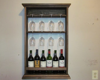 Wine Rack, Espresso stain, liquor cabinet, mini bar, wall mounted bar, minimalist style