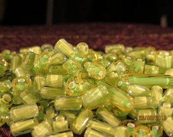 Green Cane Glass Mixed Sizes,Shapes
