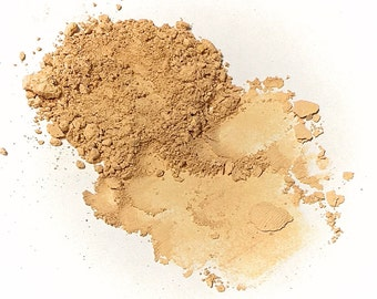 CREAMY BEIGE Titanium Free Mineral Foundation - Multi Tasking Loose Powder - Gluten Free Vegan Makeup Samples and Full Size