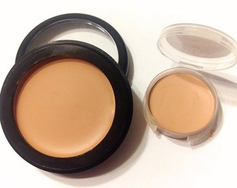 BASHFUL BEIGE Perfecting Cream Foundation - Creamy Foundation Concealer Makeup - Gluten Free Vegan