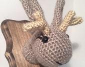 Amigurumi Crochet Taxidermy -  Jackalope