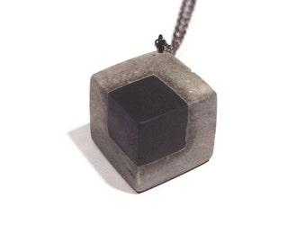 Concrete cube in cube