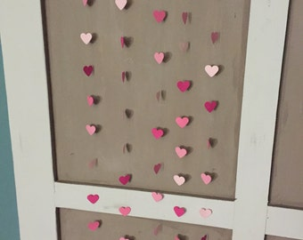 Pink heart streamers // heart streamers // valentines day decorations // girl birthday party decorations // pink streamers // baby shower