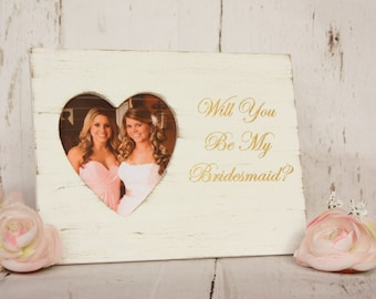 Will you be my bridesmaid gift Bridesmaid Proposal Bridesmaid Gift Maid of Honor Gift Bridesmaid Frame