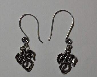 Dragon Swirl Ear Wire Earrings