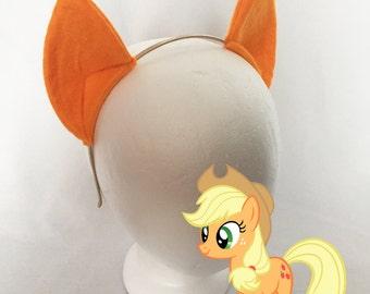Applejack My Little Pony Ears on Elastic, Costume Ears, Cosplay Ears Headband