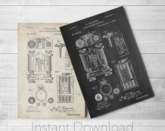 Hollerith Machine Printables, First Computer Poster, First Computer Patent, Technology Art, Computer Decor, PP0110