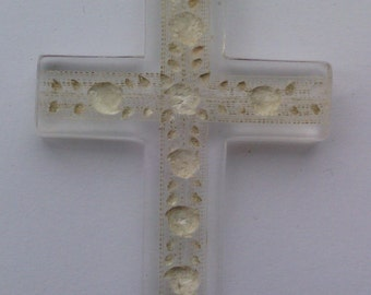 French Antique Celluloid Cross