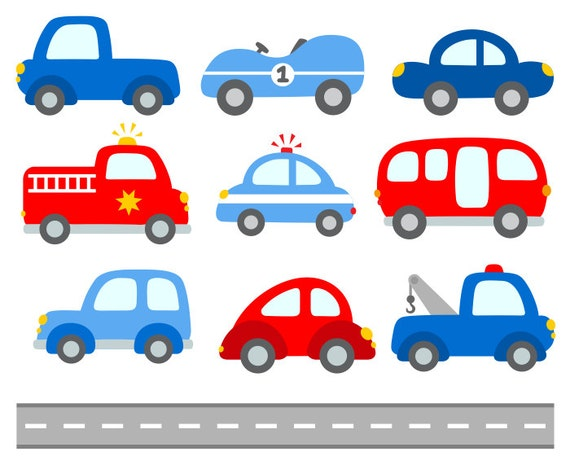 Cute Cars Digital Clip Art Transportation Clipart By