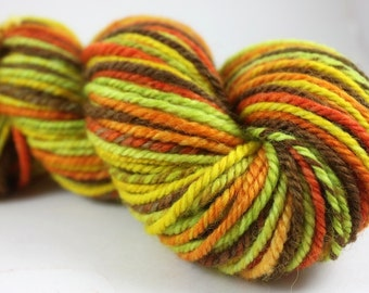 Handspun Yarn - Worsted Weight Navajo ply - BFL: Hippie Tree Hugger
