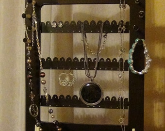 Earring and Necklace Organizer, Earring and Necklace Organizer Desktop stand, Jewelry / Necklace Organizer - Jewelry Holder