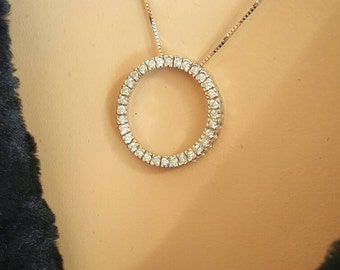 14K White Gold Diamond Pendant. Free U.S. Shipping. International Charges May Vary.