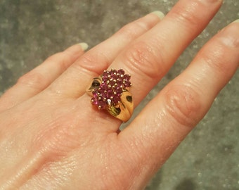 10K Yellow Gold Ruby Ring.  Free U.S. Shipping. International Charges May Vary.