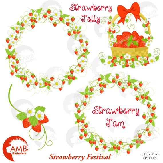 Strawberry Wreath Clipart Basket Frames