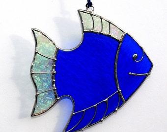 Stained Glass Suncatcher FISH Tiffany Glass Home decor