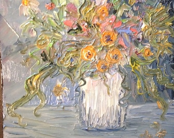 Flower Bouquet Still Life    Original    Oil Painting by Gray