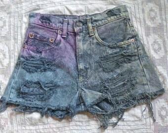 Tie Dye Cutoff Levi Shorts