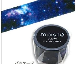 Maste Washi Tape - Cosmic Universe Galaxy Paper Masking Tape 20mm ×7m