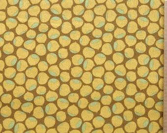 Clearance Joel Dewberry fabric Chestnut Hill Chestnuts JD10 Ochre 100% Cotton Free Spirit cotton Fabric by the yard