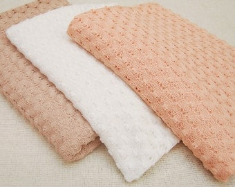 2 Yards Newborn Fabric Backdrop - Textured Crochet Fabric PEACH; BEIGE; WHITE; Newborn Posing Fabric; Newborn Photo Prop