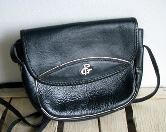 Vintage 80s leather handbag small Leather Satchel womens purse GABRIELLE shoulder bag CROSSBODY purse pouch womens purse / L295