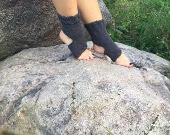 knitting Yoga Socks gray  Pilates Socks women men gray Socks Dance Socks Slipper Socks Women  Socks  gray Hipster Socks Yoga active wear