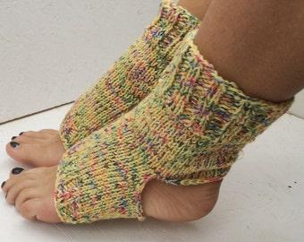 multicolors Yoga Socks Hand Knit Pilates Socks  Socks Dance Socks Slipper Socks Women  Socks  Colorful Hipster Socks Yoga active wear