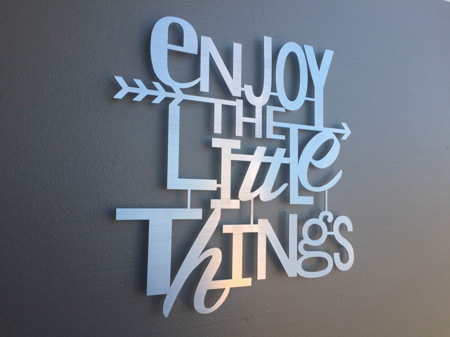 Enjoy the little things metal wall art home decor wall art Metal home decor