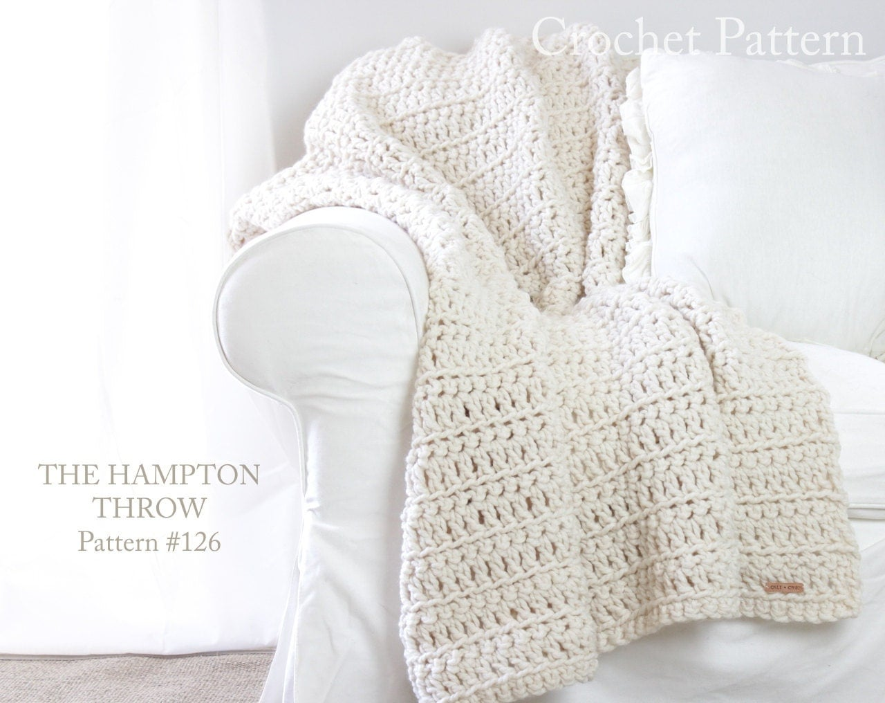 Crochet throw blanket pattern 126 the hampton crochet blanket this is a digital file bankloansurffo Images