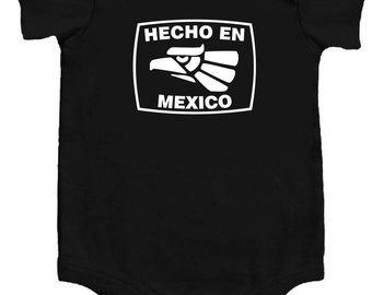 Baby chingona etsy hecho en mexico funny baby bodysuit black wwhite mexican cool personalized baby shower gift negle Images