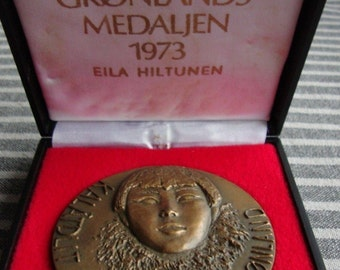 Bronze medals by Anders Nyborg limited edition Danish Design vintage Greenland, Iceland and Sirius (3 medals)