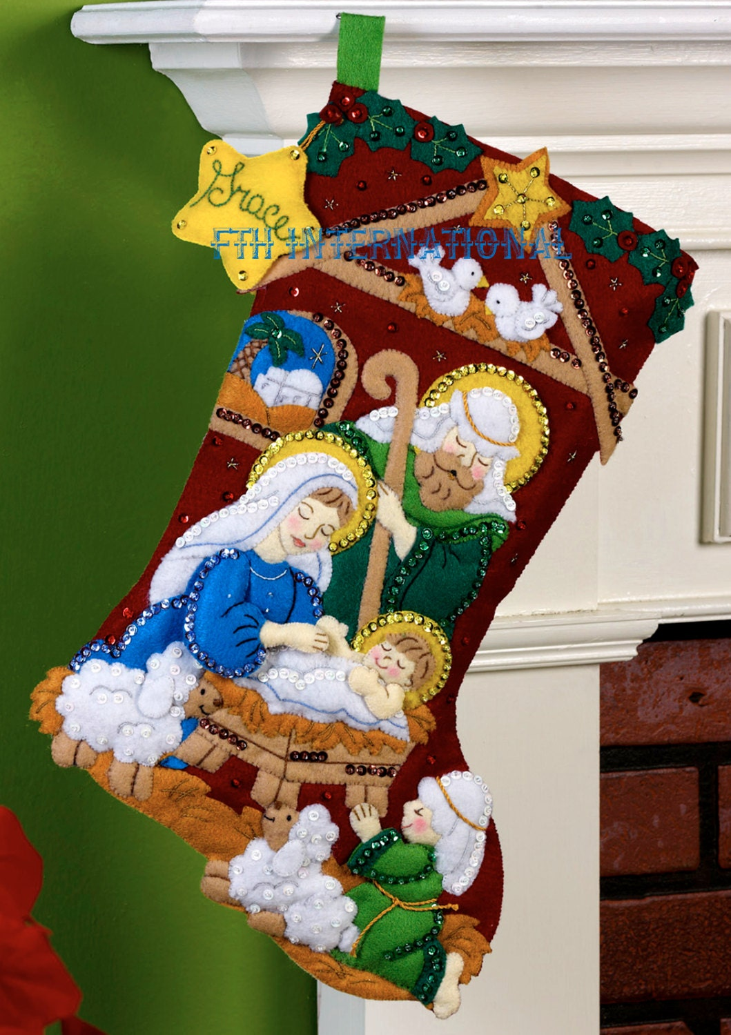 Nativity Bucilla 18 Felt Christmas Stocking Kit 86449