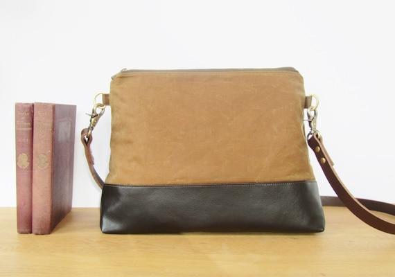 Waxed Cotton Handbag from Lunablue Bags