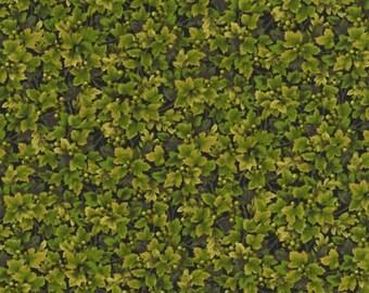 RJR Fabrics Autumn Romance 2305 04 Green Leaves With Berries By Yuko Hasegawa