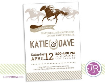 Kentucky Derby Shower Invitation