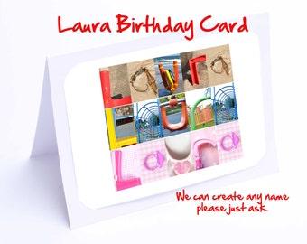 Laura Personalised Birthday Card