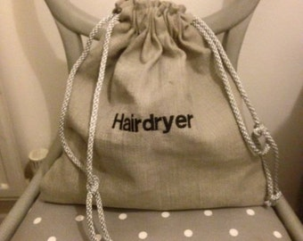 Travel hairdryer bag