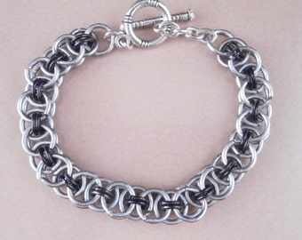 Bracelet - Micro Chainmaille Helm Weave