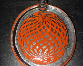 Cheefs Reversed Reticello Glass Pendant