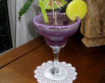 Purple Margarita Drink - Gel Candle