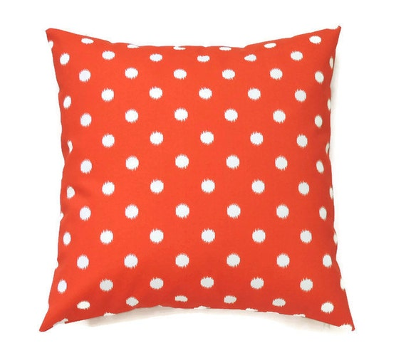 Decorative Outdoor Pillow Covers : Outdoor Pillow Orange Decorative Pillows 18x18 Pillow Cover