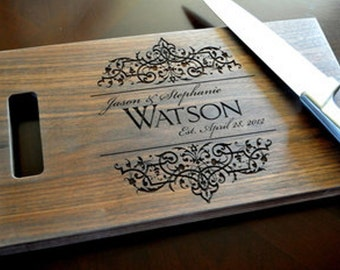 Personalized Hand Carved Cutting Board