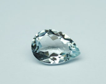 1.90 Carat Aquamarine loose pear cut - Aquamarine stone - Aquamarine gemstone