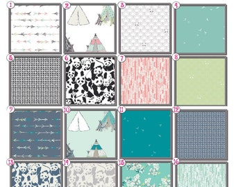 Panda Baby Bedding, Toddler bed, baby set, mini crib, black and white, coral, teal, tee pee, cherry blossom, gray, bumpers, bumperless