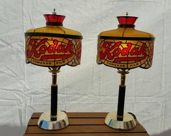 Vintage Kodak Advertising Lamps