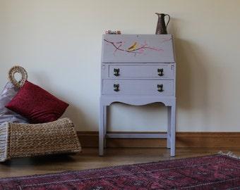 Vintage Bird & Blossom Bureau Desk