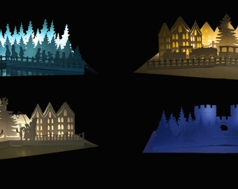 Set of 4 pop up designs Cold Winter Night selection