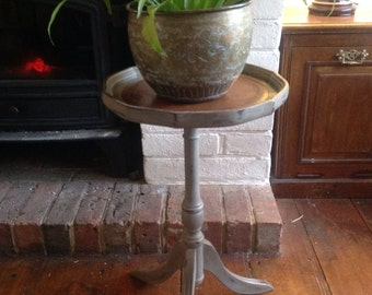 SOLD Pretty painted wine table side table